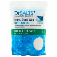 Dr Salts Muscle Therapy 100% Dead Sea Bath Salts 2KG - with Eucalyptus