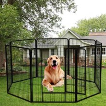Heavy Duty 8 Panel Dog Pet Puppy Rabbit Guinea Playpen Run Crate Enclosure Cage