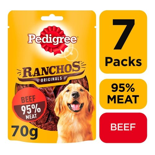PEDIGREE Ranchos Dog Treats With Beef 7x70g