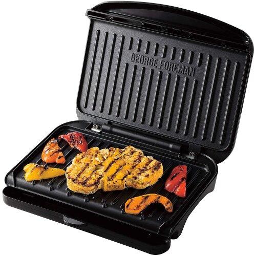 George Foreman 25810 Medium Fit Grill - Versatile Griddle, Black