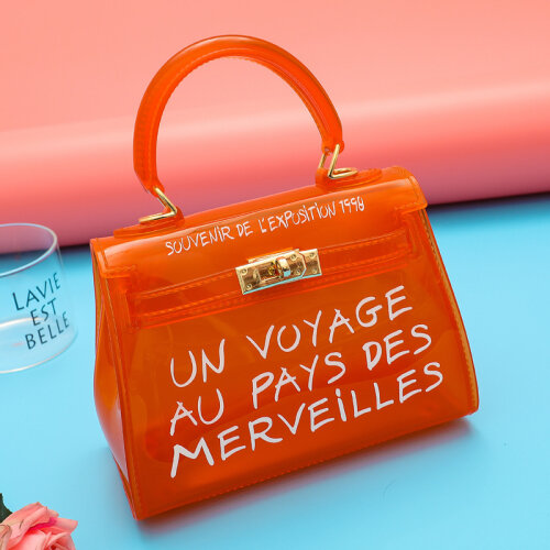 Womens Niena Clear Slogan Handbag