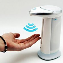 GEEZY 330ml Touchless IR Sensor Automatic Battery Operated Soap Dispenser,Hands-Free