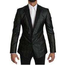 Black Gray Slim Fit Jacket MARTINI Blazer