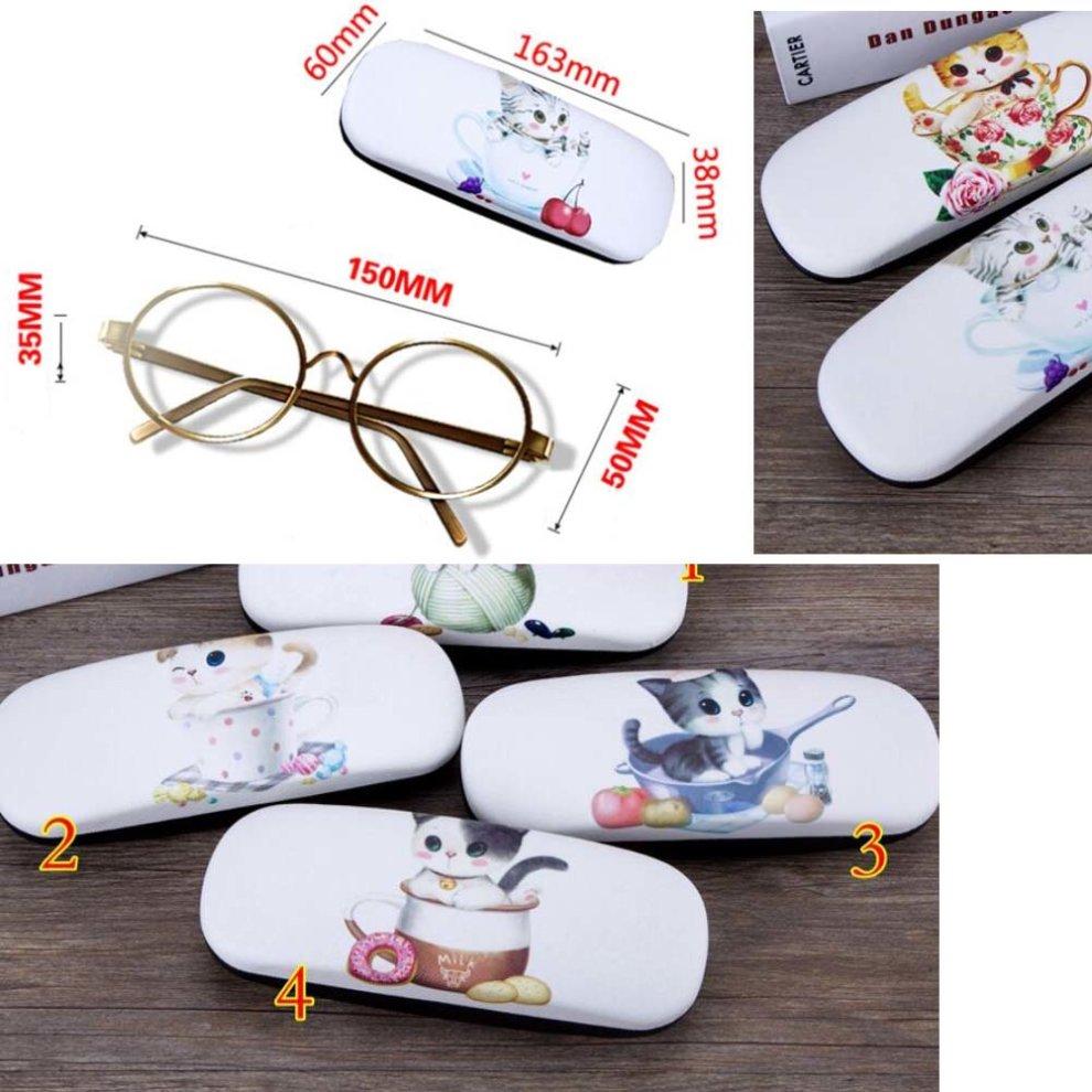 PU Leather Hard Shell Eyeglass Case Glasses Storage Case Protective Case for Glasses Four Leaf Clover 02