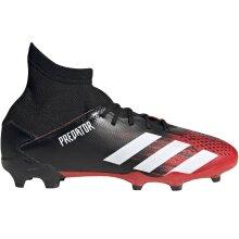 adidas Performance Junior Predator 20.3 Firm Ground Football Boots - Black/Red