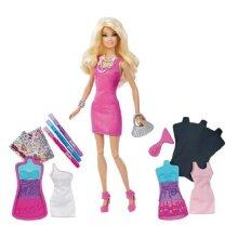 Barbie Fashion Design Plates Doll