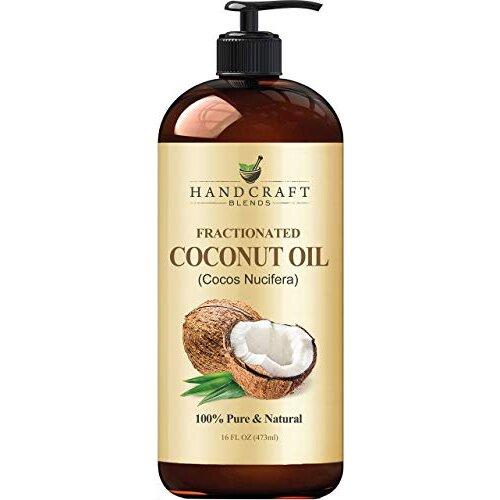 Fractionated Coconut Oil 16 fl. oz– 100% Pure & Natural Premium Therapeutic Grade - Coconut Carrier Oil for Essential…
