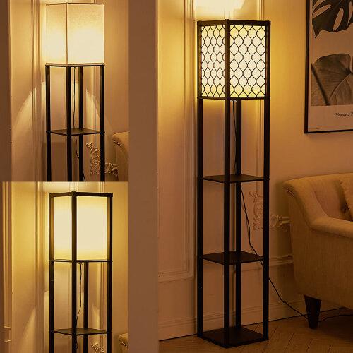 Morden Floor Lamp with Shelves Floor Light Lamp Storage Dispaly