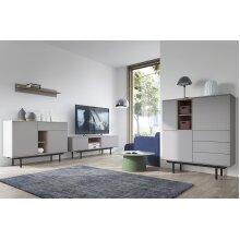 Modern Living Room Furniture Set in Grey Colour Grey/Oak/Black