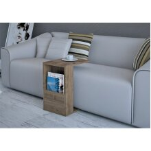 P&W - C Shape Coffee Table, Wooden Sofa Side Table