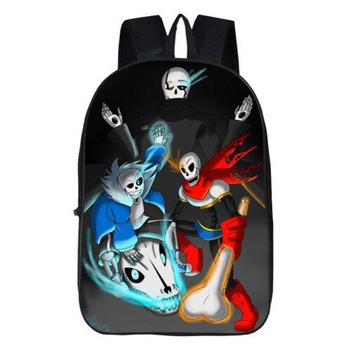 "(Black Red) 17""Undertale Sans Papyrus Backpack School Travel Bag"