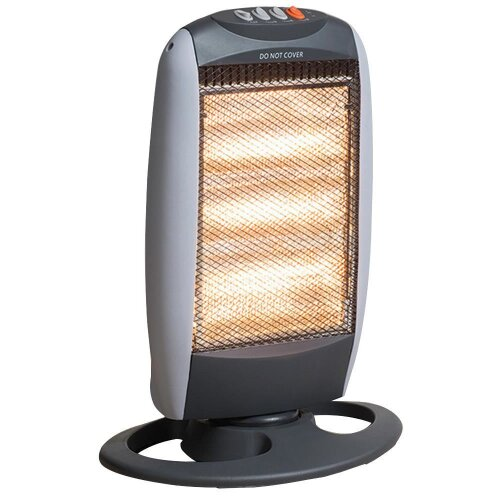 Daewoo Home 1200w Portable Standing Oscillating Halogen Heater 3 Heat Settings