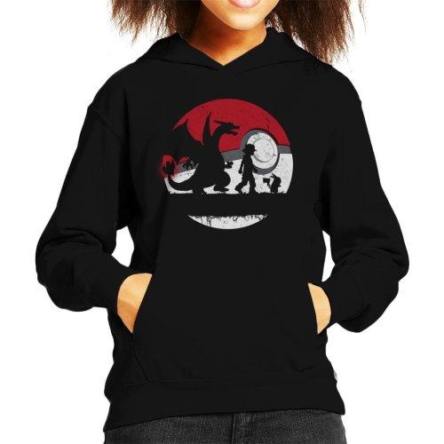 Forest Silhouette Pokemon Kid's Hooded Sweatshirt