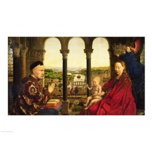 The Rolin Madonna Poster Print by Jan Van Eyck - 36 x 24 in. - Large