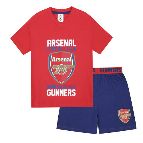 (Red, 12-13 Years) Arsenal FC Official Football Gift Boys Kids Kit Pyjamas