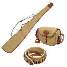 Guardian Heritage shotgun canvas cartridge bag, cart belt and gun slip kit