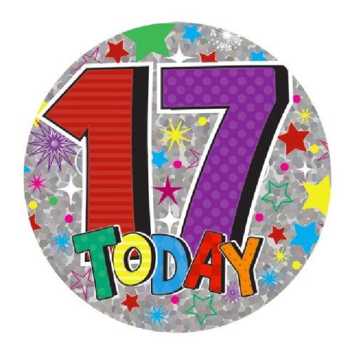 Birthday Badge Birthday Badge Age 17 Birthday