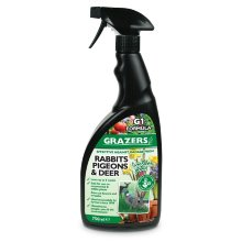 Grazers G1 – Plant Protection Against Rabbits, Pigeons, Deer & Geese – Pest Repellent – 750ml R.T.U.