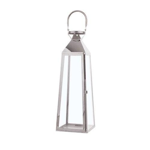Tall Decorative Lantern Silver CRETE