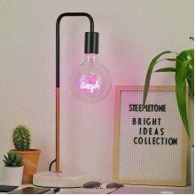 Pink laugh light bulb