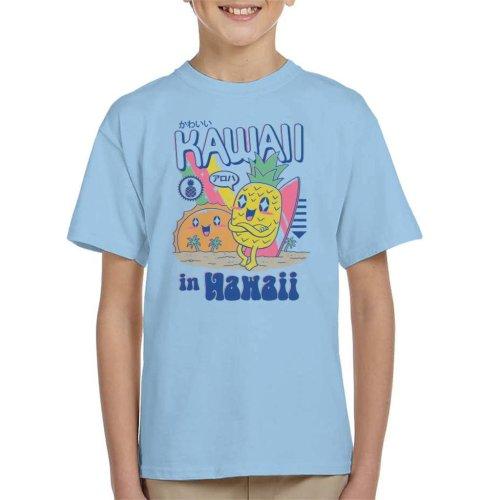 Kawaii In Hawaii Pineapple Beach Kid's T-Shirt