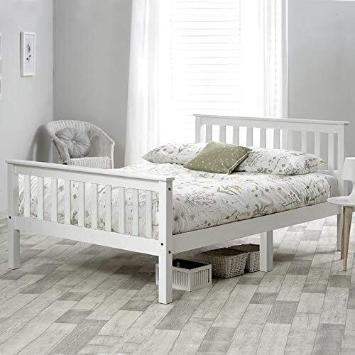 (Single Bed(3ft)) Wooden Bed in White For Adults, Kids, Teenagers
