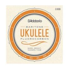 Ukulele Strings D'Addario EJ99B Fluorocarbon Baritone Set DGBE Low D Tuning