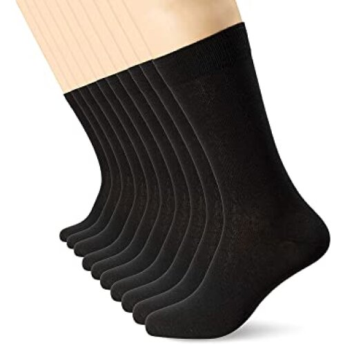 FM London Men's Smart Dress Sock (Pack of 10)