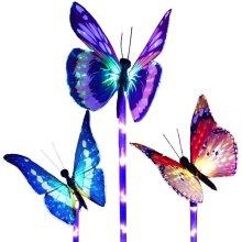 Butterfly Garden Solar Lights Outdoor,3 Pack