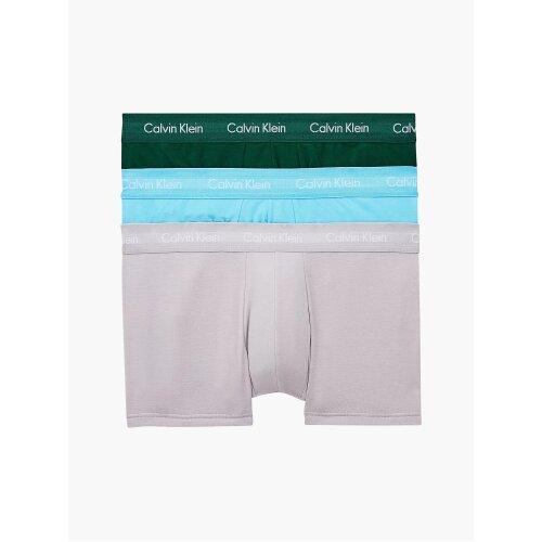 Calvin Klein 3 Pack Low Rise Trunks Men's  – JADE SEA/ SKY HIGH/ SLEEK SILVER