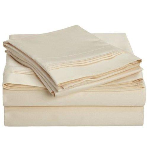 Impressions 800FLSH SLIV 800 Full Sheet Set, Egyptian Cotton Solid - Ivory