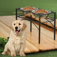 Dual Elevated Stand Bowl Dog Puppy Feeder Bowl Pet Food Bowl Stand