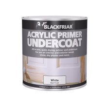 Blackfriar BF0380001F1 Quick Drying Acrylic Primer Undercoat White 250ml