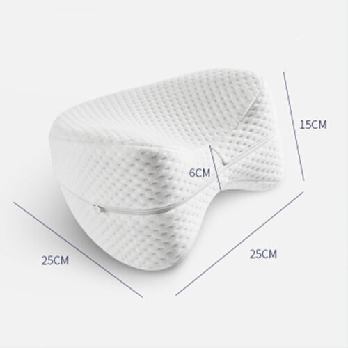 Memory Foam Knee Support Pillow Orthopedic Memory Foam Leg Pillow For Side Sleepers