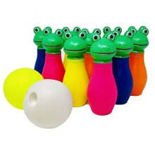 Koolbitz Bowling Pins Ball Toys Small Plastics Bowling Set Fun, 12Pcs