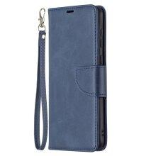 Samsung Galaxy A02 Case Premium PU Leather Folio Cover Magnetic -Blue