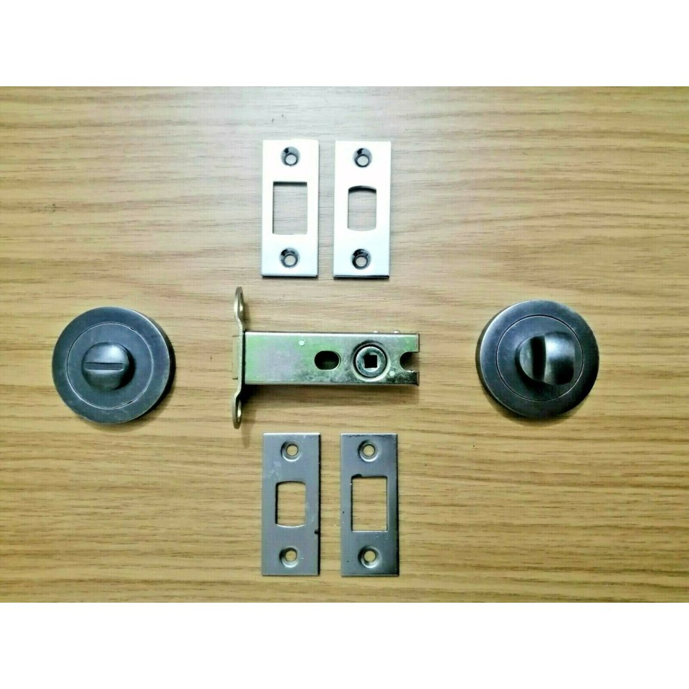 Bathroom Thumb Turn /& Release with 76mm Deadbolt Lock Bolt Toilet Door Set 76mm Dead Bolt Only