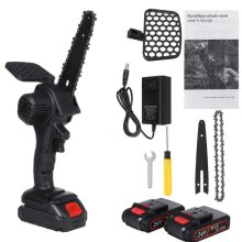 """6"""" Electric Cordless Chain Saw Woodworking Pruning Cutter"""