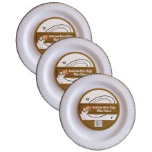 """3 x 10 Disposable Plastic 7"""" Plates Picnic Camping Garden Party BBQ Grill"""