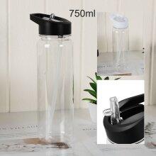 Water Bottle Straw Plastic Free Leakproof Sport Portable Drink Mug