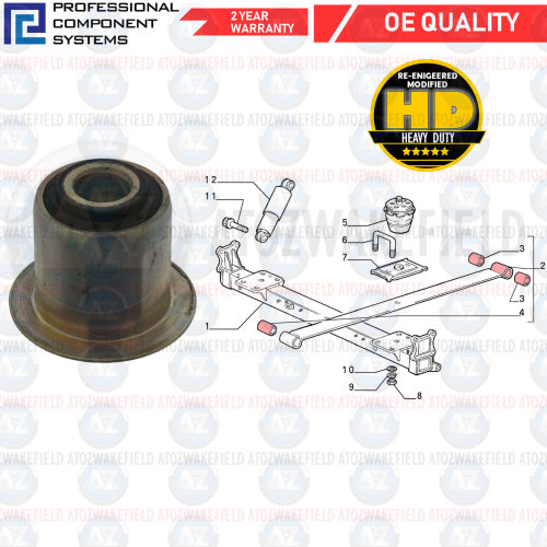 A2580 Rear Engine Mount for Mitsubishi Challenger PA 1997-1997 3.0L
