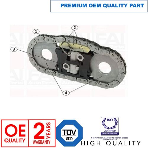 FOR IVECO DAILY 2.3 D 2006- TIMING CHAIN SPROCKETS GUIDE RAILS TENSIONERS KIT