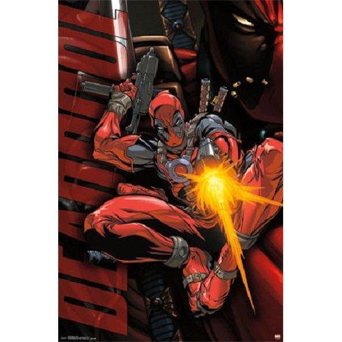"""Poster - Studio B - DeadPool - Jump 23""""x35"""" Wall Art p7380"""