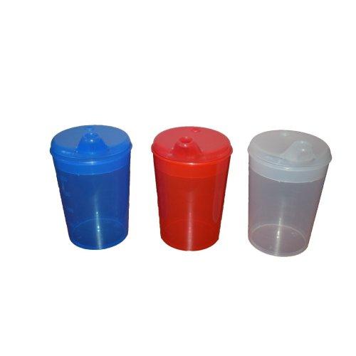 Plastic Feeding Cup With Wide Spout - Adult Feeder Beaker - Hospital Mug
