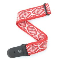 D'Addario Planet Waves Woven Guitar Strap Guatemalan Red T20W1414