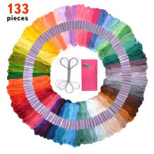133 Piece Embroidery Thread and Sewing Kit-Friendship Bracelet String