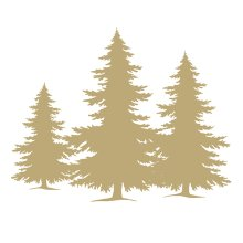 Ambiente 3 Ply Paper Napkins, Tree Silhoutte White and Gold