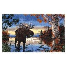 Moose Rug Latch Hooking Kit (110x75cm)