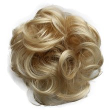 PRETTYSHOP Scrunchy Scrunchie Bun Updo Hairpiece Hair Ribbon Ponytail Extensions Curly Diverse Colors (bleach blonde mix 86A/613)