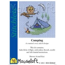 Mouseloft - Counted Cross Stitch Kit - Stitchlets Collection - Camping